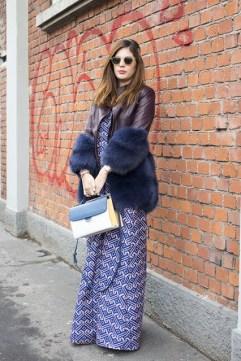 Sofia Guellaty in a Madiyah Al Sharqi coat, a Kage dress and a Fendi bag