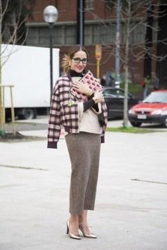 Tiany Kiriloff in a Malene Birger jacket, a Veronique Branquinho skirt and Kobe Husk shoes