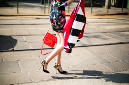 Valentina Siragusa in an Au Jour Le Jour jacket, Roberto Cavalli dress, Greymer shoes and a Roger Vivier bag