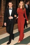 Adam Levine in Salvatore Ferragamo with fiancée Behati Prinsloo
