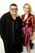 Alber Elbaz and Emma Roberts at Lanvin