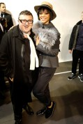 Alber Elbaz and Rihanna at Lanvin
