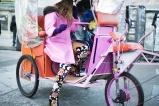 Anna Dello Russo in Tom Ford boots, Fendi bag and coat