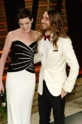 Anne Hathaway - in Viktor & Rolf - and Jared Leto