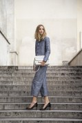 Candela Novembre in Arthur Arbesser with a Stella McCartney bag and Zara shoes