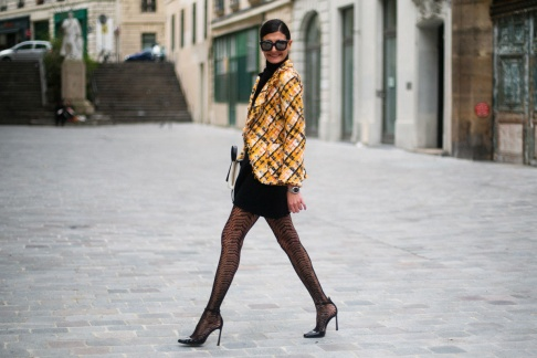 Giovanna Battaglia in Saint Laurent