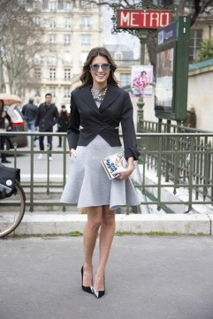 Helena Bordon in Dior with an Olympia Le Tan clutch