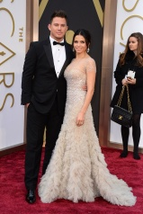 Jenna Tatum in Reem Acra with Channing