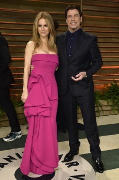 John Travolta junto a su esposa, Kelly