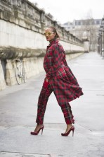 Michelle Elie in Comme des Garcons with Louboutins