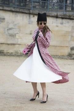 Ploy Chava in a PS Material dress, Valentino shoes, Olympia Le Tan bag and Miu Miu coat