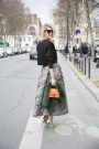 Sofie Valkiers in a Zara top, Red Valentino skirt and shoes and Jimmy Choo bag