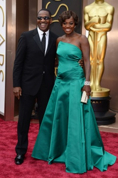Viola Davis in Escada with Julius Tennon